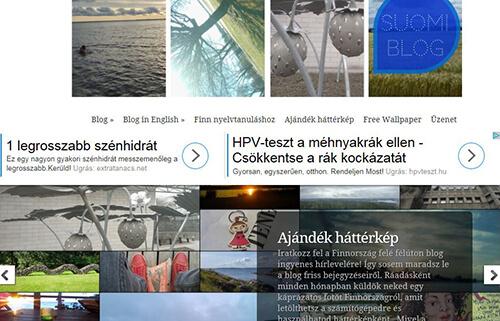 A suomiblog.hu főcíme